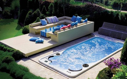 Hot tubs and swim spas in utica hydropool hot tubs swim spas - Jacuzzi de nage exterieur ...